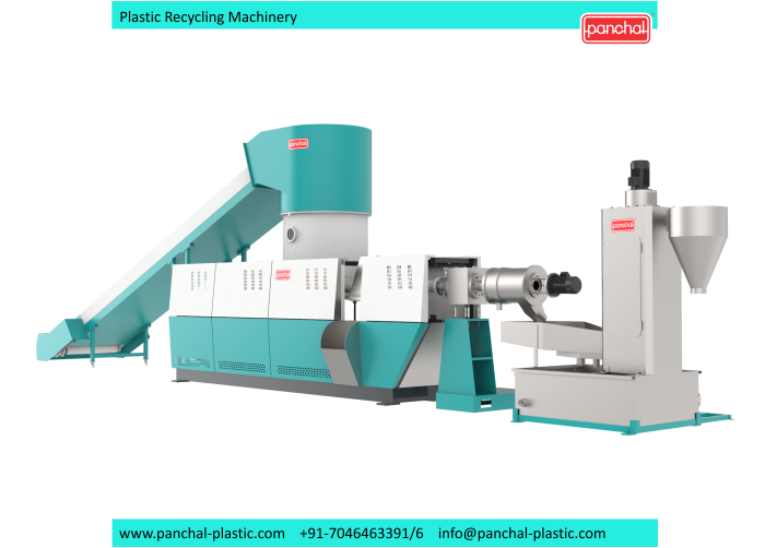 Extruder - In Line 3 in 1 recycling plant 1