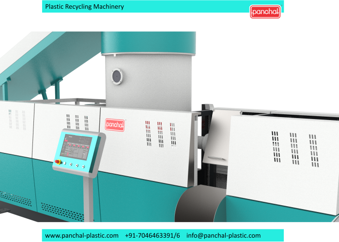 Extruder - In Line 3 in 1 recycling plant 12