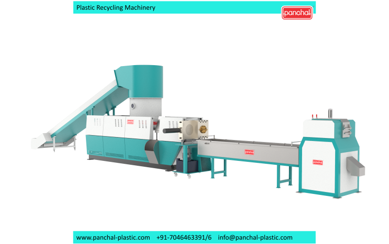 Extruder -PET Recycling Chips 1