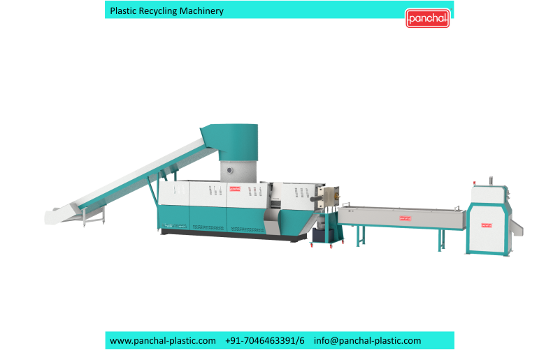Extruder -PET Recycling Chips 2